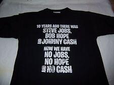TEE SHIRT NOIR - HOMME - 10 YEARS AGO - STEVE JOBS - BOB HOPE - JOHNNY CASH