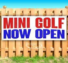 Mini Golf Now Open Advertising Vinyl Banner Flag Sign Many Sizes