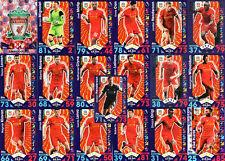 Match Attax 2016/17 Liverpool - Topps Base football Cards 2017 16/17