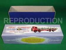 DINKY # 905 FODEN (2nd CAB) PIATTO Camion con catene-riproduzione Box da drrb