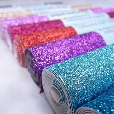 FINE Glitter Material MINI ROLLS sew, glue or die cut, 24 colours
