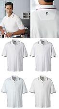 ASHWORTH GOLF Mens S M L XL 2XL 3XL 4XL Dri Wicking Polo Sport Shirt Tipped Trim
