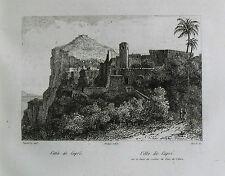 1835:Napoli = CITTA DI CAPRI = Veduta dal mare..Passepartout.AUDOT.Acciaio.ETNA.