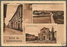 ALESSANDRIA BASSIGNANA 01 SALUTI da... - MUNICIPIO Cartolina viaggiata 1973