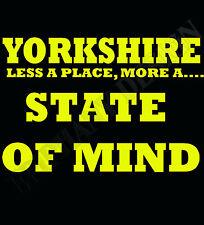 Yorkshire Leeds Camiseta más un estado de ánimo lugar Varios Tamaños Y Colores
