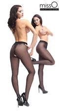 MISS O P102 Open Crotch Pantyhose Nylons Sexy Silky Shiny Glossy Polished 40 Den
