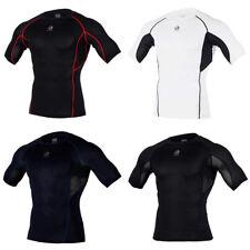 ARMEDES Mens Skin Compression Baselayer Activewear Mesh Short Sleeve Shirt R132