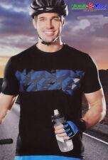 uomo maglia ciclista Jersey Maglietta sportiva da corsa Traspirante
