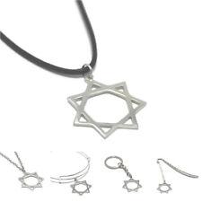 Heptagram Symbol charm necklace Seal of God bangle keyring bookmark