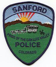 SANFORD COLORADO CO Pride of The San Luis Valley POLICE PATCH