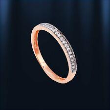 Russische Rose Gold 585 Goldring mit CZ. Sehr niedlich! Band ring 2mm