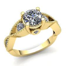 Natural 0.5ct Round Cut Diamond Ladies Infinity 3Stone Engagement Ring 10K Gold