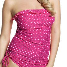 Panache Cleo Betty Bandeau Tankini Top Pink Spot Various Sizes