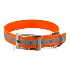 collier réfléchissant 25 mm x 60 cm orange biothane-jokidog