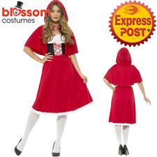 CA361 Ladies Longer Length Little Red Riding Hood Book Week Fairytale Costume