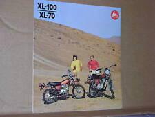 1974 Honda XL100 / XL70 Motorcycle Brochure/Poster - Literature