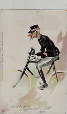 #MILITARE IN BICICLETTA- 1901