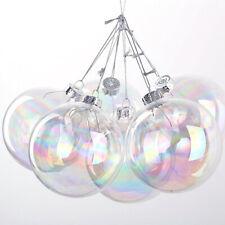 5-50x 6-10cm Christmas Bauble Iridescent Ball Shape Glass Fillable Hanging Decor