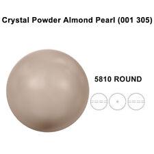 CRYSTAL POWDER ALMOND PEARL (001 305) Genuine Swarovski 5810 Round *All Sizes