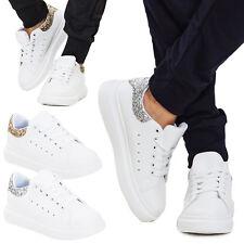 Sneakers donna scarpe sportive brillantini glitter stringate casual sexy L2003