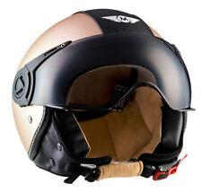 CASCO Demi JET PILOTO Vespa Scooter Helmet ECE - MOTO H44 Vintage Bronze XS-XL