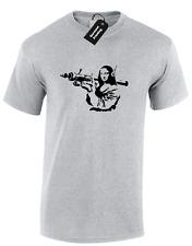 MONA LISA Banksy Homme T Shirt Tee Cool Street Art Tumblr Instagram Rétro Qualité