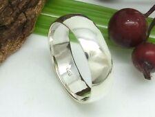 Freundschaftsring 925er Silber Ring schlichter Bandring halbrunde Form ca. 7mm