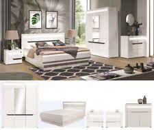 schlafzimmer komplett weiss hochglanz iris set a schrank led bett 200 x 160 180