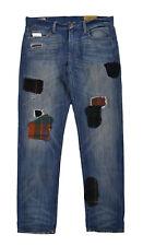 Women's Ralph Lauren Polo Slim Astor Boyfriend Repaired Patchwork Jeans New