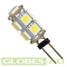 5x 12V LED G4 COOL WHITE LIGHT 5050 9 SMD Cabinet Camper Bulb Globe Boat Garden