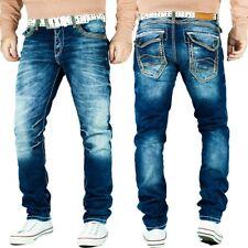 Cipo & Baxx Herren Jeans Denim Hose Freizeithose Clubwear Disco Streetwear