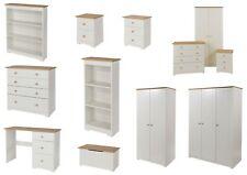 Colorado White and Oak Bedroom Furniture - Bedside, Drawers, Wardrobe & Storage
