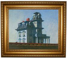 Hopper The House Framed Canvas Print Repro 16x20