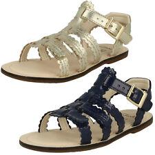 CLARKS filles Loni lune élégant sandales cuir lanières