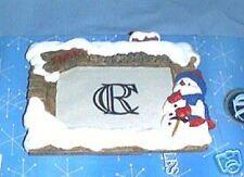 University of Kansas Snowman Picture Frame w/ Box Horiz