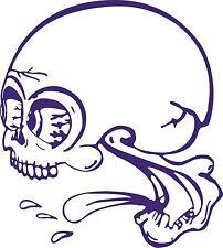 Funny Skull Crazy Skeleton Monster Truck Window Vinyl Decal Sticker