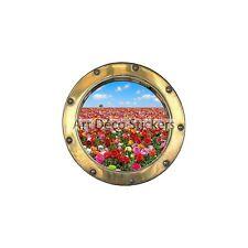 Adesivo inganna l'occhio Campo di fiore ref:oblò H321
