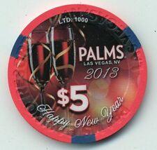 PALMS  2013 HAPPY NEW YEAR   $5   CASINO UNC. CHIP