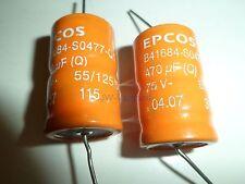 Epcos sikorel b41684-s0477-q1 ll 470µf 75v 125 ° C * nuevo *
