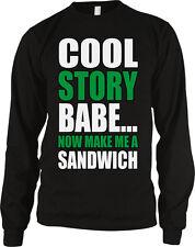 Cool Story Babe Now Make Me A Sandwich Mean Couple Joke Shut Up Do Men's Thermal
