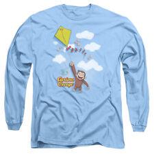 Curious George Monkey TV Show Movie Children Book Flight Adult L-Sleeve T-Shirt
