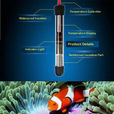25/50/100W Aquarium Fish Tank Water Submersible Heater Adjustable Thermostat