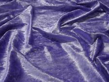 Crushed Velvet Velour Fabric Material - PURPLE