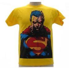 Camiseta Superman busto Amarillo suéter Original Camiseta de algodón