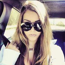 Aviator Super Porshe BLACK Twirl Metal Design Frames Women Sunglasses Shades