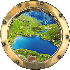 Sticker trompe l'oeil déco Lac réf:hublot H362