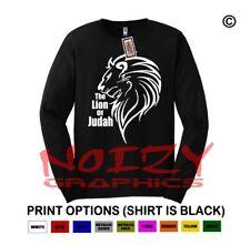 The Lion Of Judah Christian LONG SLEEVE Shirt Religious Jesus Tribe Faith Cross