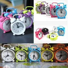 Modern Mini Metal Small Alarm Clock Fashion Student Electronic Clock Gift US