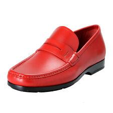"Salvatore Ferragamo ""Gioele 1"" Men's  Red Loafers Slip On Shoes 7EE 7.5EE"