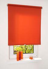 Springrollo Mittelzugrollo Schnapprollo Rollo Terracotta Orange Breite 60-200 cm